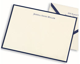 Personalized stationery for college grads