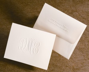 Traditional monogram note