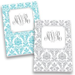 Damask Monogram Personalized Journal Set