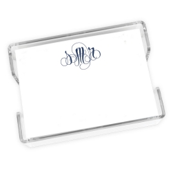 Delavan Monogram Agenda - White with holder