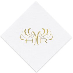 Eminent Monogram Luxury AirLaid Napkin - Foil-Pressed