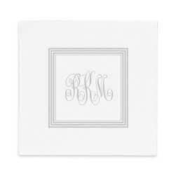 Embassy Delavan Monogram Luxury Airlaid Napkin - Foil-Pressed