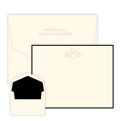 Wheaton Monogram Card - Embossed
