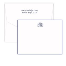 Delavan Monogram Card - Raised Ink
