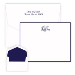 Classic Monogram Card - Raised Ink