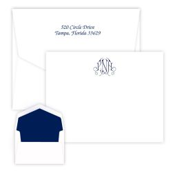 Victoria Monogram Card - Raised Ink
