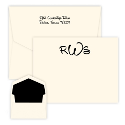 Anthony Monogram Card - Raised Ink