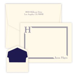 South Hampton Initial Card - Raised Ink