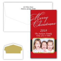 Merry Christmas Santa Holiday Photo Card