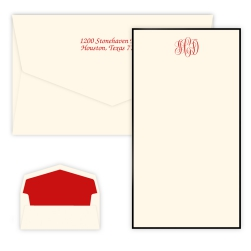 Classic Monogram Chesapeake Card - Raised Ink