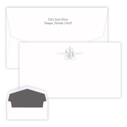 Virginia Monogram Chesapeake Card - Raised Ink