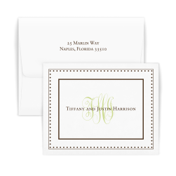 Couples Monogram Note - Double Thick