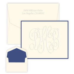 Henley Grand Monogram Note - Embossed