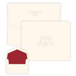 Classic Monogram Note - Embossed