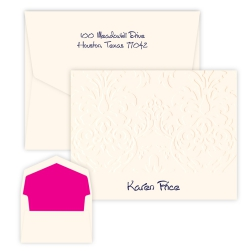 Damask Note - Raised Ink