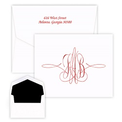 Virginia Monogram Note - Raised Ink