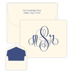 Elise Monogram Note - Raised Ink