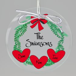 Holiday Wreath Keepsake Printed Ornament