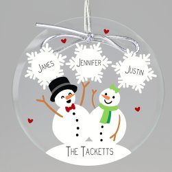Snow In Love Keepsake Printed Ornament