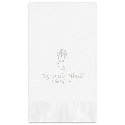 Christmas Guest Towel - Embossed