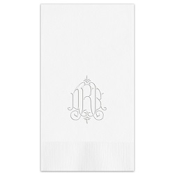 Whitlock Monogram Guest Towel - Embossed