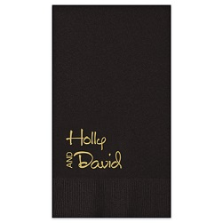 Luxe Guest Towel - Foil-Pressed