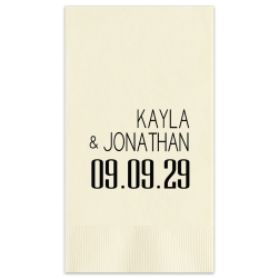 Soho Wedding Guest Towel - Foil-Pressed