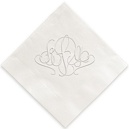 Madrid Monogram Napkin - Embossed
