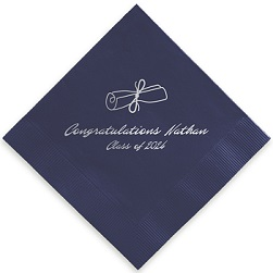 Graduation Napkin - Foil-Pressed