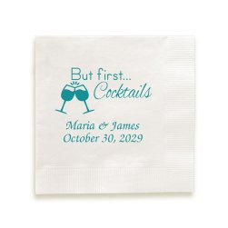 First Comes Love Napkin - Foil-Pressed