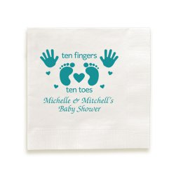 Ten Fingers and Toes Napkin