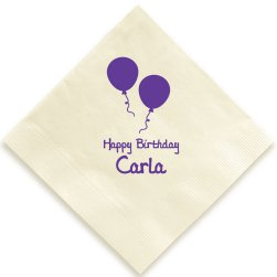 Birthday Balloons Napkin - Foil-Pressed