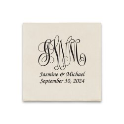 Pamplona Couples Wedding Graphic Napkin - Raised Ink