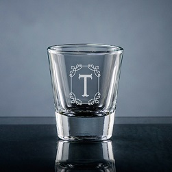Stately Initial Shot Glass