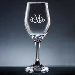 Altamira Monogram Wine Glass with Stem