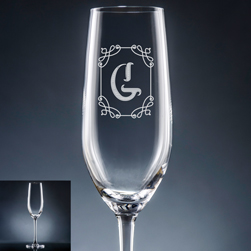 Stately Initial Champagne Flute