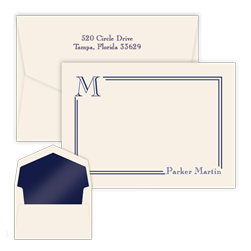 South Hampton Initial Card with Pinnacle Envelopes