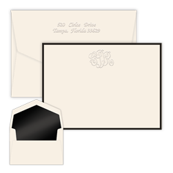 Classic Monogram Bordered Card with Pinnacle Envelopes