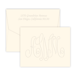 Large Monogram Note - Double Thick with Pinnacle Envelopes