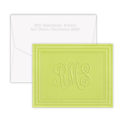 California Classic Frame Monogram Note - Double Thick with Pinnacle Envelopes