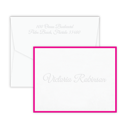 Courante Bordered Note - Double Thick with Pinnacle Envelopes