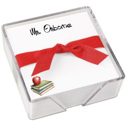 Apple Memo Square - White with holder