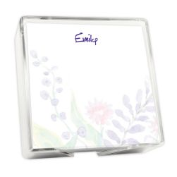 Tranquil Dreams Memo Square - White with holder