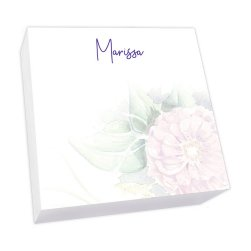 Watercolor Peony Memo Square - White Refill