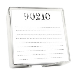 Brookland Memo Square - White with holder