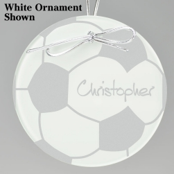Soccer Keepsake Ornament - Circle
