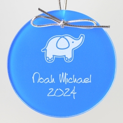 Elephant Keepsake Ornament - Circle