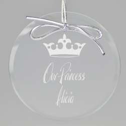 Crown Keepsake Ornament - Circle
