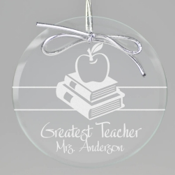 Teacher Keepsake Ornament - Circle