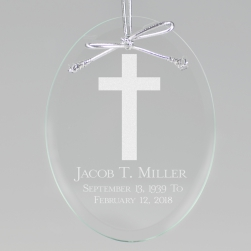 In Loving Memory Keepsake Ornament - Oval